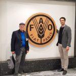 17/05/2019 - Bruno Garbini (presidente ARCA) e Simone Tiberi (agronomo ARCA) alla FAO per la presentazione del prototipo di misuratore dell'erosione del suolo